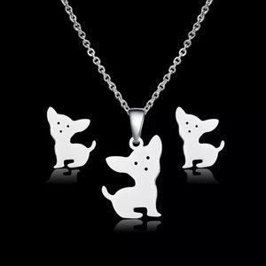 Dog Necklace & Matching Earrings Set. 🆕
